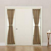 Sun Zero Bella 72-Inch Rod Pocket Room Darkening Sidelight Door Panel in Taupe