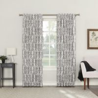 Roselia 84-Inch Back Tab Room Darkening Window Curtain Panel in Iron