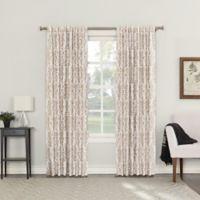 Roselia 63-Inch Back Tab Room Darkening Window Curtain Panel in Linen
