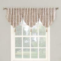 Roselia 24-Inch Back Tab Room Darkening Window Valance in Linen