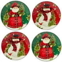 Certified International Winter's Plaid Christmas by Susan Winget Dinner Plates (Set of 4)