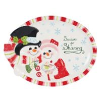 Fitz and Floyd® Flurry Folk 13.75-Inch Oval Platter