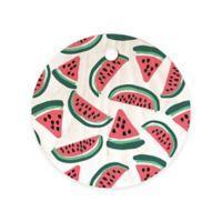 Deny Designs Zoe Wodarz 11.5-Inch Wood Watermelon Wander Round Cutting Board in Red