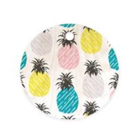 Deny Designs Pineapple Pastel 11.5-Inch Round Wood Cutting Board in Blue