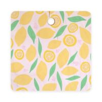 Deny Designs Pink Lemonade 11.5-Inch Square Wood Cutting Board in Pink