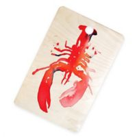 Deny Designs Lobster 16-Inch Rectangular Wood Cutting Board in Red
