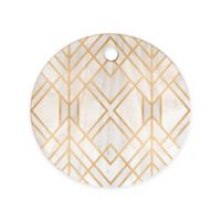 Deny Designs Golden Geo Round Cutting Board in Gold