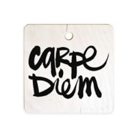 Deny Designs Kal Barteski Carpe Diem Square Cutting Board in Black