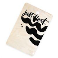"""Deny Designs """"Just Float"""" by Kal Barteski 16.5-inch x 10.5-Inch Rectangular Cutting Board in Black"""