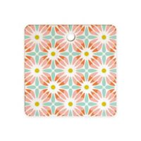 Deny Designs Crazy Daisy Sorbet Cutting Board in Red