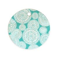 Deny Designs Delightful Doilies Round Cutting Board in Tiffany Blue