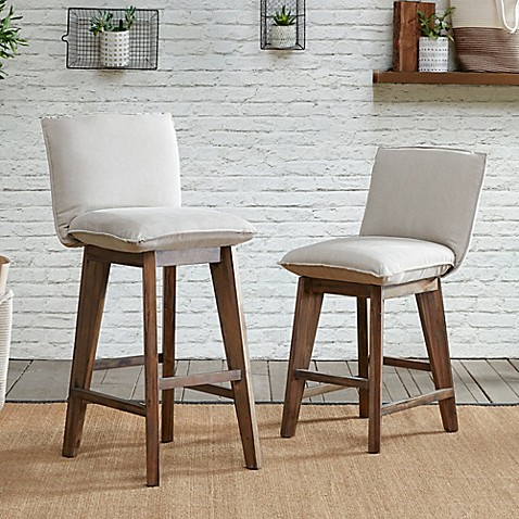 Ink Ivy 174 Ii Kendall 30 Inch Bar Stool In Tan Light Grey
