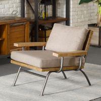 INK+IVY® II Renu Lounge Chair in Tan/Gunmetal