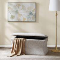 Madison Park Bijou Storage Bench in Grey Print