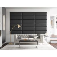 Vant 117-Inch x 69-Inch Vinyl Upholstered Headboard Panels in Black Coal