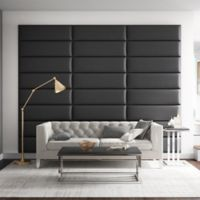 Vant 117-Inch x 92-Inch Vinyl Upholstered Headboard Panels in Black Coal