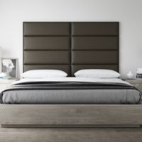 Vant 78-Inch x 46-Inch Vinyl Upholstered Headboard Panels in Saddle Brown