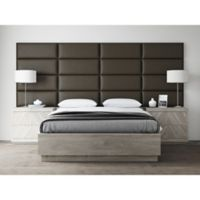 Vant 120-Inch x 46-Inch Vinyl Upholstered Headboard Panels in Saddle Brown