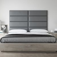 Vant 78-Inch x 46-Inch Vinyl Upholstered Headboard Panels in Grey Pewter