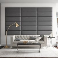 Vant 117-Inch x 69-Inch Vinyl Upholstered Headboard Panels in Grey Pewter
