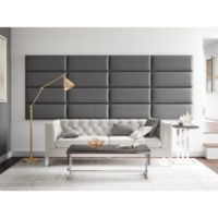 Vant 120-Inch x 46-Inch Vinyl Upholstered Headboard Panels in Grey Pewter