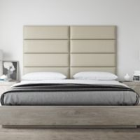Vant 78-Inch x 46-Inch Vinyl Upholstered Headboard Panels in Dusty Taupe