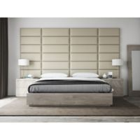 Vant 138-Inch x 69-Inch Vinyl Upholstered Headboard Panels in Dusty Taupe