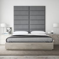 Vant 78-Inch x 69-Inch Micro Suede Upholstered Headboard Panels in Grey