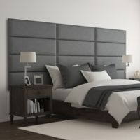 Vant 117-Inch x 46-Inch Micro Suede Upholstered Headboard Panels in Grey