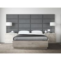 Vant 120-Inch x 46-Inch Micro Suede Upholstered Headboard Panels in Grey