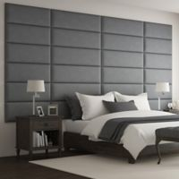 Vant 138-Inch x 69-Inch Micro Suede Upholstered Headboard Panels in Grey