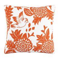 Skyline Furniture Garden Bird Throw Pillow in Orange