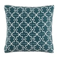 Skyline Furniture Mud Cloth Throw Pillow in Turquoise