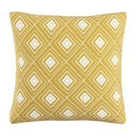 Skyline Furniture Diamond Throw Pillow in Yellow