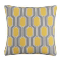 Skyline Furniture Hexagon Throw Pillow in Yellow