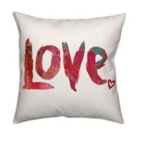 Designs Direct Love Square Throw Pillow in Red