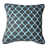 Amity Home Sierra Throw Pillow in Grey/Aqua