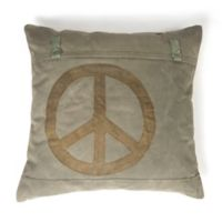 Amity Home Peace Sign Euro Sham in Khaki