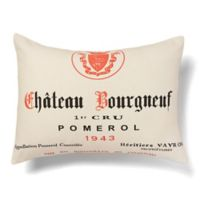 Amity Home Chateau Bourgneuf Square Throw Pillow in Ivory/Red