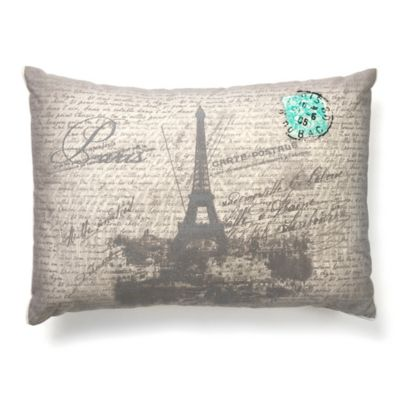 amity home paris throw pillow in grey