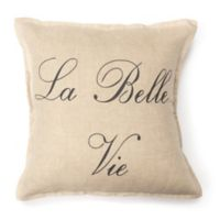 Amity Home La Bella Vie Square Throw Pillow in Tan