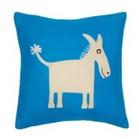 Amity Home Donkey Felt Pillow in Blue
