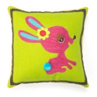 Amity Home Wool Bunny Square Throw Pillow