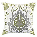 Vesper Lane Modern Ikat Square Throw Pillow in Tan