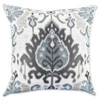 Vesper Lane Modern Ikat Square Throw Pillow in Grey