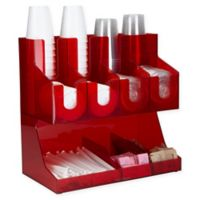 Mind Reader Fancy Jumbo Condiment Organizer in Red