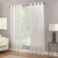 Waterfall Sheer 84-Inch Grommet Top Window Curtain Panel in Natural