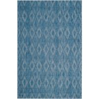 Safavieh Courtyard 6-Foot 7-Inch x 9-Foot 6-Inch Indoor/Outdoor Area Rug in Navy
