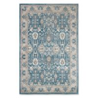 Nottingham Home Vintage Floral 5-Foot x 7-Foot 7-Inch Area Rug in Blue