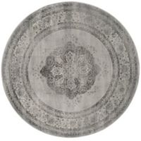 Safavieh Vintage Eloquence 6-Foot Round Area Rug in Grey